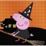 Rótulo Água Peppa Pig Halloween