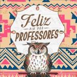 Rótulo Aromatizador de Ambiente Dia Dos Professores Corujinha India Marron