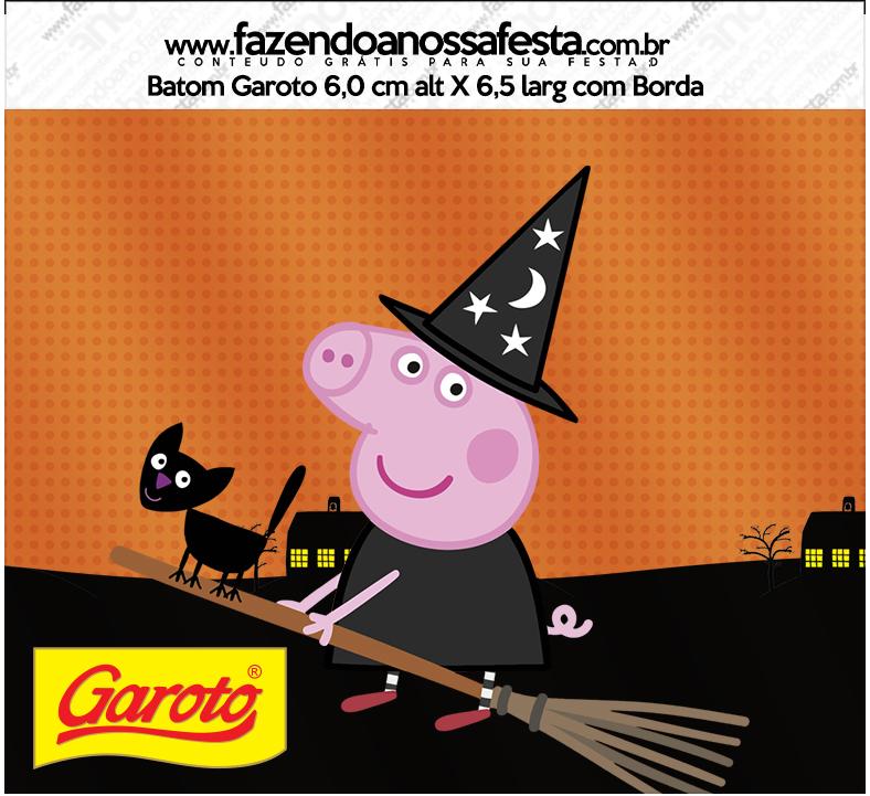 Rótulo Batom Gatoto Peppa Pig Halloween