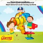 Rótulo Baton Garoto Dia das Crianças Lembrancinha