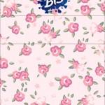 Rótulo Bis Duplo Coroa de Princesa Rosa Floral