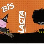 Rótulo Bis Duplo Peppa Pig Halloween