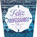 Rótulo Bisnaga Flip Top Dia Dos Professores Coruja Azul