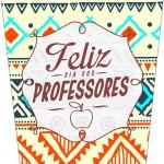 Rótulo Bisnaga Flip Top Dia Dos Professores Coruja Indie Laranja
