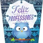Rótulo Bisnaga Flip Top Hidratante Dia Dos Professores Coruja Azul