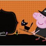 Rótulo Caixa de Bombom Peppa Pig Halloween