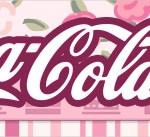 Rótulo Coca-cola Coroa de Princesa Rosa Floral