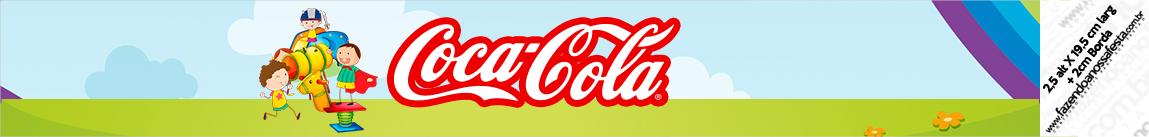 Rótulo Coca-cola Dia das Crianças Lembrancinha