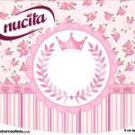 Rótulo Creminho Nucita Coroa de Princesa Rosa Floral