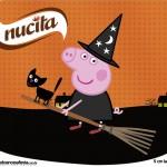 Rótulo Creminho Nucita Peppa Pig Halloween