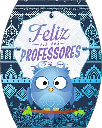 Rótulo Esmalte Colorama 2 Dia Dos Professores Coruja Azul
