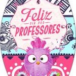 Rótulo Esmalte Colorama 2 Dia Dos Professores Coruja Rosa e Azul