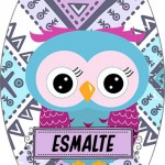 Rótulo Esmalte Colorama 2 Dia Dos Professores Coruja Roxa e Azul