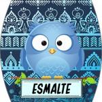 Rótulo Esmalte Colorama 3 Dia Dos Professores Coruja Azul