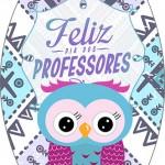 Rótulo Esmalte Colorama 3 Dia Dos Professores Coruja Roxa e Azul