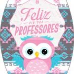 Rótulo Esmalte Colorama Dia Dos Professores Coruja Rosinha e Azul