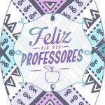 Rótulo Esmalte Colorama Dia Dos Professores Coruja Roxa e Azul