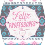 Rótulo Esmalte Dia Dos Professores Coruja Rosinha e Azul