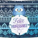 Rótulo Esmalte Risque 2 Dia Dos Professores Coruja Azul