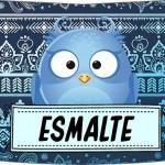 Rótulo Esmalte Risque 3 Dia Dos Professores Coruja Azul