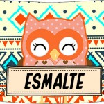 Rótulo Esmalte Risque 3 Dia Dos Professores Coruja Indie Laranja