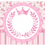 Rótulo Espumante Coroa de Princesa Rosa Floral