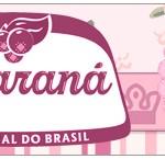 Rótulo Guaraná Caçulinha Coroa de Princesa Rosa Floral