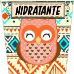 Rótulo Hidratante Dia Dos Professores Coruja Indie Laranja
