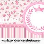 Rótulo Mentos Coroa de Princesa Rosa Floral