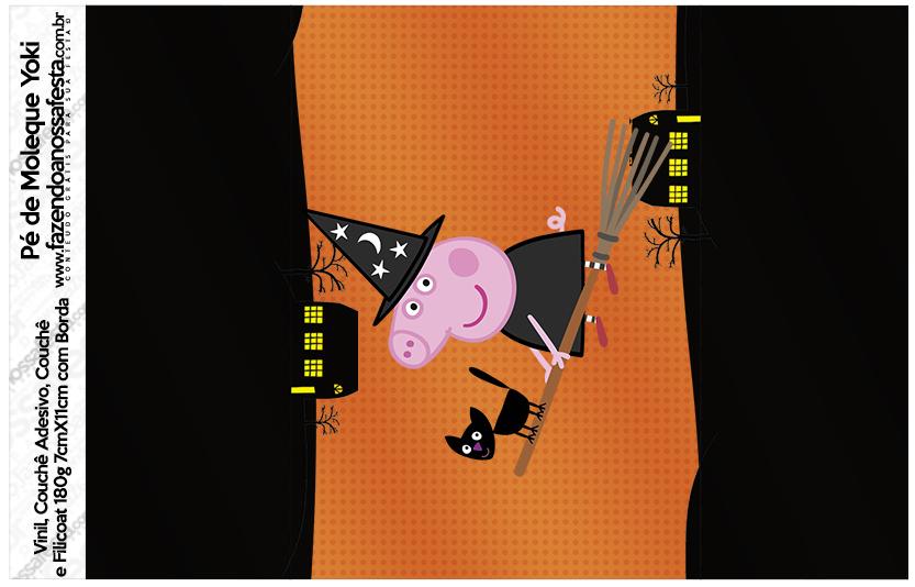 Rótulo Pé de Moleque Peppa Pig Halloween