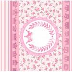 Rótulo Pé de Moleque Yoki Coroa de Príncesa Rosa Floral