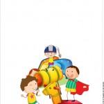 Rótulo Passaporte - Parte de dentro Dia das Crianças Lembrancinha