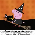 Rótulo Passatempo Peppa Pig Halloween