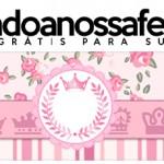 Rótulo Pote Papinha Coroa de Princesa Rosa Floral