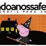 Rótulo Pote Papinha Peppa Pig Halloween