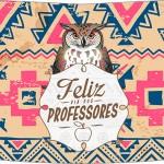 Rótulo Risque 2 Dia Dos Professores Corujinha India Marron