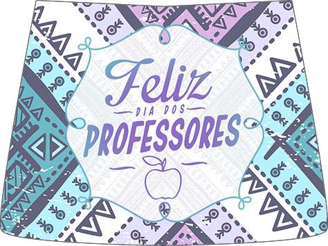 Rótulo Risque Dia Dos Professores Coruja Roxa e Azul