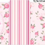 Rótulo Tic Tac Coroa de Princesa Rosa Floral