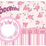 Rótulo Toddynho Coroa de Princesa Rosa Floral