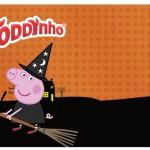 Rótulo Toddynho Peppa Pig Halloween