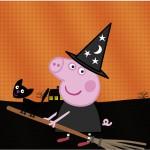 Rótulo Tubetes Peppa Pig Halloween
