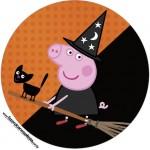 Rótulo Tubetes e Latinhas Peppa Pig Halloween