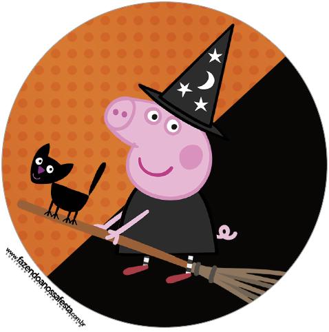 Rótulo Tubetes e Latinhas Peppa Pig Halloween - Fazendo a Nossa Festa