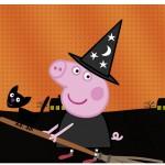 Rótulo Vinho e Espumante Peppa Pig Halloween