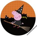 Rótulo para Tubetes, Toppers e Latinhas Peppa Pig Halloween