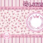 Revista Colorindo Coroa de Princesa Rosa Floral