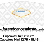 Saias Wrappers para Cupcakes 2 Kit Festa Las Vegas Poker