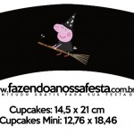 Saias Wrappers para Cupcakes 2 Peppa Pig Halloween