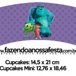 Saias Wrappers para Cupcakes Monstros SA