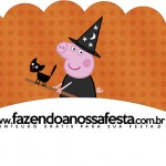 Saias Wrappers para Cupcakes Peppa Pig Halloween